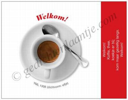 Gedichtkaart YML 1308: Welkom!