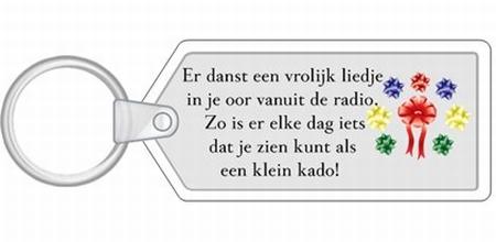 Sleutelhanger YML 1750: Cadeautje van de dag