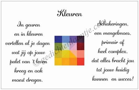 Grote gedichtkaart YML 1866: Kleuren