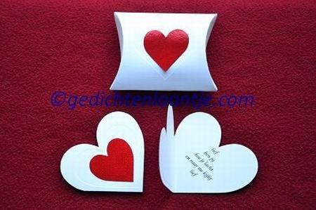 Hartkaart YML 2503 wit-rood hart: Lief