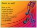 Gedichtkaart YML 1426: Bedankt! (muziek, feest)