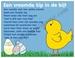 Paaskaart YML 1749: Een vreemde kip in de bijt